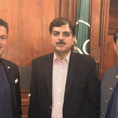 Bavarian Business Delegation to Pakistan, October 2018: Honorary Consul Dr. Poetis, Muhammad Akhtar Malik, Minister of Energy for the Punjab, Ahsan Mehmood Baba, Politician