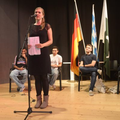 Lange Nacht der Konsulate 2015: Fee is presenting her poetry