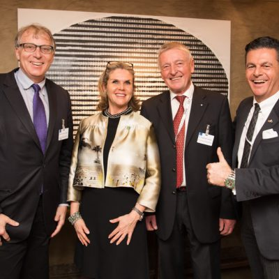Economy Talks, February 2017: (from right) Dr. Poetis, Honorary Consul of Pakistan, Dr. Friedemann Greiner, General Secretary of Consular Corps in Bavaria, Patricia Poetis, Chief Creative Officer, POWERGROUP GmbH and Ulrich Konstantin Rieger, Deputy Head of Department, Bavarian Ministry of Economic Affairs