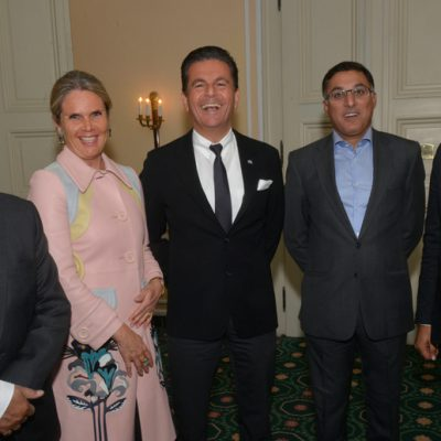 Sindh Delegation in Bavaria, April 2016:  Saifuddin Zoomkawala, Chairman and Board of Directors, Allianz EFU Health Insurance Ltd., designer Patricia Poetis, CCO POWERGROUP, Consul Dr. Poetis, CEO POWERGROUP, Tayyab Tareen, CEO K-Electric Limited and Murad Mehmood, Honorary Consulate of Pakistan