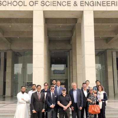 Bavarian Business Delegation to Pakistan, October 2018: Group picture at the National Incubation Center at Lahore University of Management Sciences