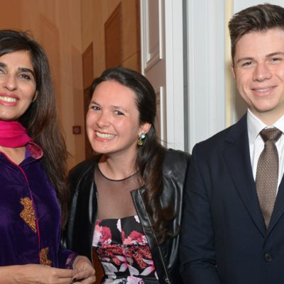 Sindh Delegation in Bavaria, April 2016:  Naheed Memon, Chairperson Sindh Board of Investment, Philomena Poetis and Pericles Poetis of the Honorary Consulate