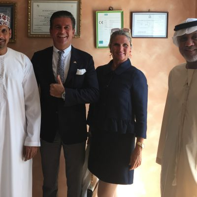 From Left: Hussain Ahmed Ghuloom (CEO, Al-Waqia shoes), Consul Dr. Poetis, Patricia Poetis,(Chief Creative Officer, POWERGROUP) Abbas Al Yousef