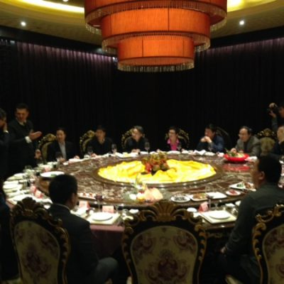 Business Journey to China, March 2015: Consul Dr. Poetis, CEO POWERGROUP, presenting POWERGROUP´s ideas to the Vice Mayor of Shijia Zhuang Mr. Hao and other government officials.