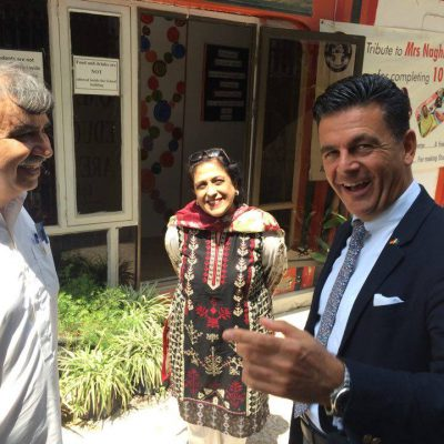 Consul Dr. Poetis during a visit to school in Pakistan: A visit to school in Islamabad, Pakistan