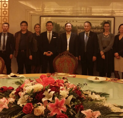 Business Journey to China, March 2015: Dinner with Mr. Pan and Mr. Yang Zhongnong Pi's representatives in Beijing