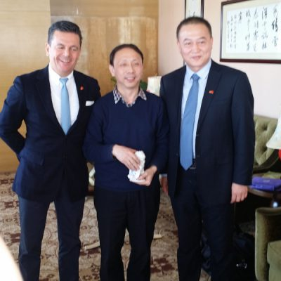 Business Journey to China, March 2015: Consul Dr. Poetis meeting with Mr. Gao District Mayor Gaocheng