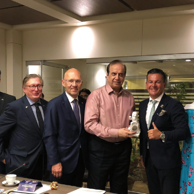 Bavarian Business Delegation to Pakistan, April 2019. Dr. Samia K. Babar, MD, Mediators Marketing, Murad Mehmood, G.A.T.E. to Pakistan, Dr. Michael Kerkloh, CEO, Munich Airport, Klaus Dittrich, CEO, Messe Muenchen (Munich Trade Fair), Minister Imtiaz Ahmed Shaikh,  Provincial Minister of Sindh for Energy, Honorary Consul Dr. Pantelis Christian Poetis, CEO, POWERGROUP, Patricia Poetis, MD, Life Fund Equity Invest, Qazi Sajid Ali, President, German Pakistan Chamber of Commerce and Industry