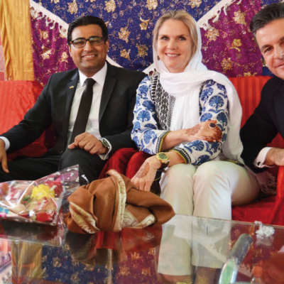 Celebration of the first Patty´s Child Clinic, January 2016: Murad Mehmood, Patricia Poetis and Consul Dr. Pantelis Christian Poetis