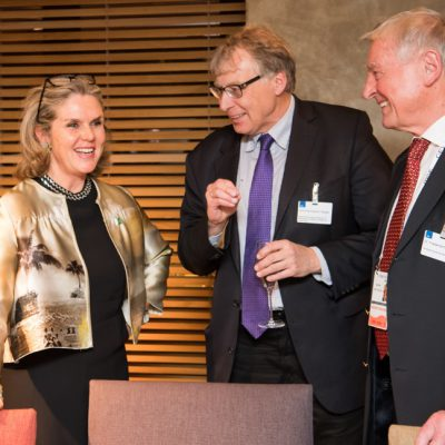 Economy Talks, February 2017: (From right) Dr. Friedemann Greiner, General Secretary of Consular Corps in Bavaria, Ulrich Konstantin Rieger, Deputy Head of Department, Bavarian Ministry of Economic Aff airs and Patricia Poetis, CCO, POWERGROUP GmbH