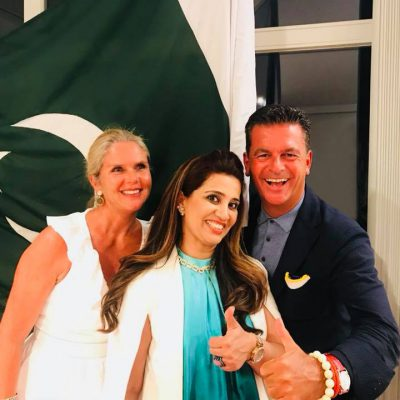 Munich Members Salon Vol. 1, August 2018: Dr. Poetis, Patricia Poetis, Anila Hussain, during Munich Members Salon at the Pakistani Honorary Consulate