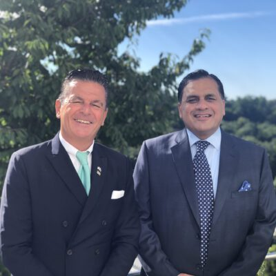 Honorary Consul Dr. Pantelis Christian Poetis and H.E. Ambassador Dr. Mohammad Faisal at the Residence of the Honorary Consulate in Munich ©HonorarkonsulatPakistanMUC