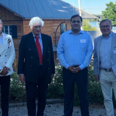 Honorary Consul Dr. Pantelis Christian Poetis, H.R.H. Prince Luitpold of Bavaria, H.E. Ambassador Dr. Mohammad Faisal and Dr. Michael Kerkloh, President of ECB at the Summer Fest of the Export Club Bayern at Münchner Yacht Club ©HonorarkonsulatPakistanMUC